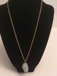 Vintage gold plated chain with Jade pendant