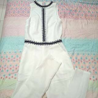 Brand New White Long Jumpsuit #15off
