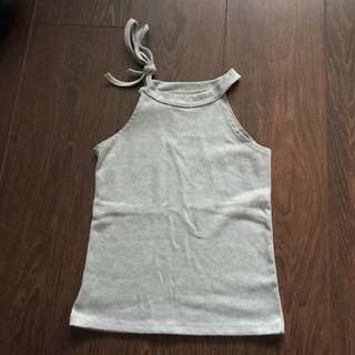Sleeveless Grey Top