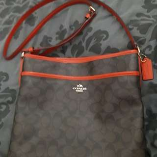 Coach Crossbody Signature Sling Bag in Orange Outline