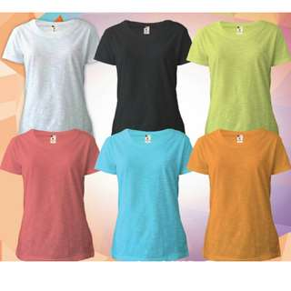 KAOS POLOS SLUB FOR WOMAN Cotton Combed Size S M L XL