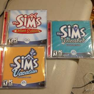 Sims Deluxe Edition and Expansion Packs