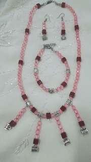 Handmade Necklace, Bracelet and Earrings Set