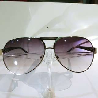 Purple Tinted Wooden Aviator Sunshades