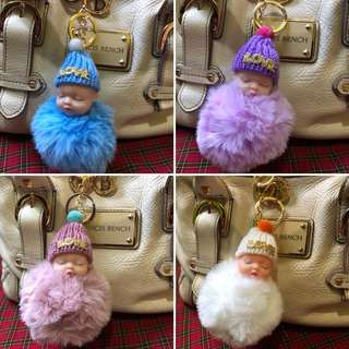 Baby bag keychain