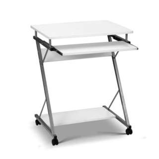 Computer Desk with Shelf White SKU: MET-DESK-105-WH