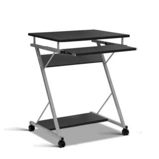 Computer Desk with Shelf Black SKU: MET-DESK-105-BK