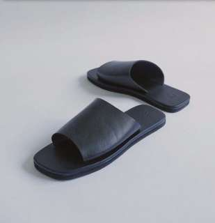 Black Slip-On Sandals