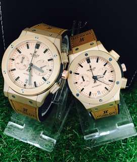 Hubl0t Classic Fusion Chronograph Couple Watch
