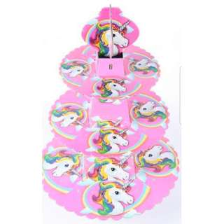 Unicorn 3 Tier Cupcake Stand