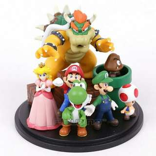 $35 Super Mario Cake Topper Centerpiece Toys