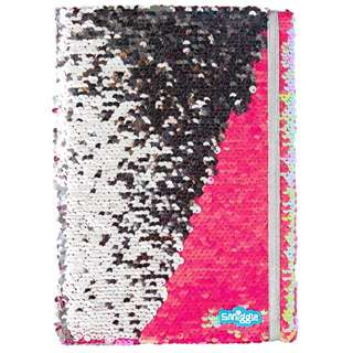 BN Smiggle a4 Sequin Reversible Notebook/Journal