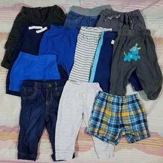 Baby Boy Assorted Pants and Short 3-6M and 6-9M