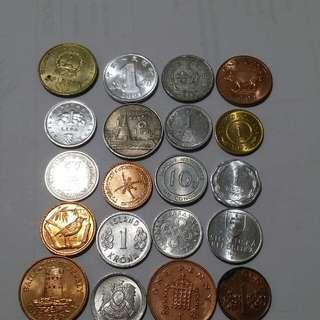 不同國家幣