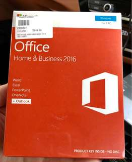 MS Office Home & Business 2016 (PC) sealed