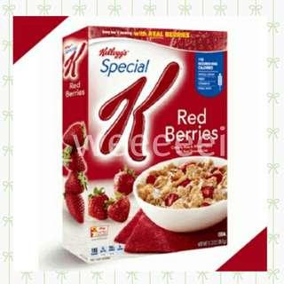 🚚 【現貨供應】家樂氏 SPECIAL K 草莓早餐脆片單包600g