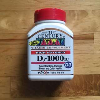 New 維他命 D3 110 粒 Vitamin D3