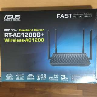 Dual Band WiFi Router RT-AC1200G+  (Home Wireless Solution)