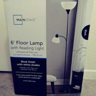 6' Floor lamp w/reading light, brand new in box