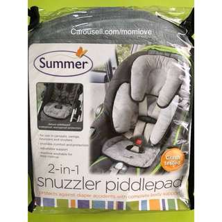 🌈(Ready Stock) 🆕Brand New Summer Infant 2-in-1 Snuzzler PiddlePad Infant Support for Car Seats and Strollers