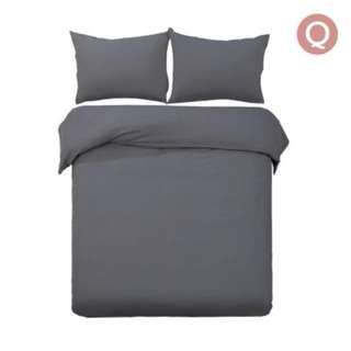 Queen 3-piece Quilt Set Charcoal SKU: QCS-MF-CL-Q