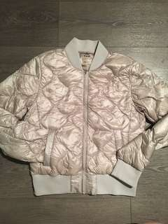 TNA-League Puffer jacket, Silver Size S