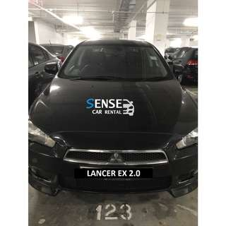 LANCER EX 2.0 $370/WEEK BLACK INTERIOR/BLACK EXTERIOR!