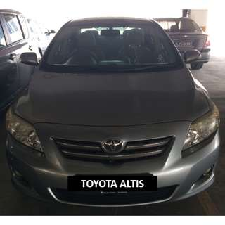 $370/WEEK TOYOTA ALTIS LAST UNIT LEFT