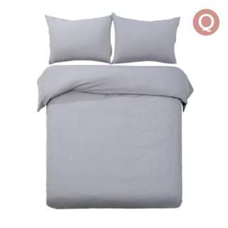 Queen 3-piece Quilt Set Grey SKU: QCS-MF-GY-Q