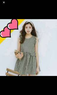 Gingham Babydoll Dress