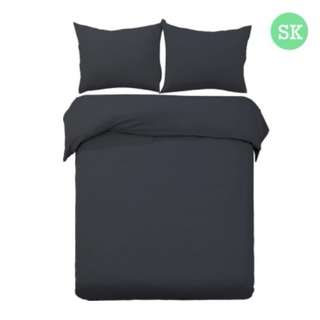 Super King 3-piece Quilt Set Black SKU: QCS-MF-BK-SK