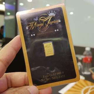 1gram 999 gold bar MamiJarum