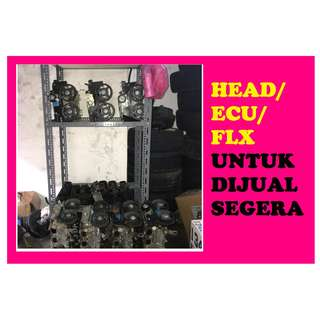 HEAD/ECU/FLX HENDAK DIJUAL SEGERA!!!