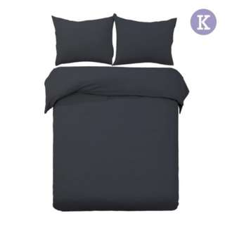 King 3-piece Quilt Set Black SKU: QCS-MF-BK-K