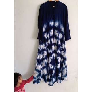 Shibori Tie Dye dress