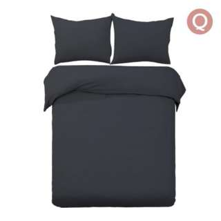 Queen 3-piece Quilt Set Black SKU: QCS-MF-BK-Q