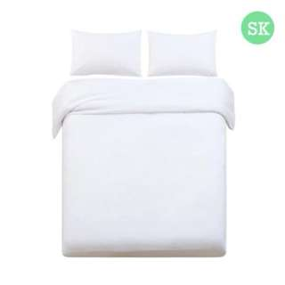 Super King 3-piece Quilt Set White SKU: QCS-MF-WH-SK