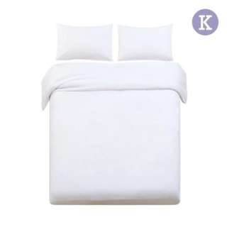King 3-piece Quilt Set White SKU: QCS-MF-WH-K