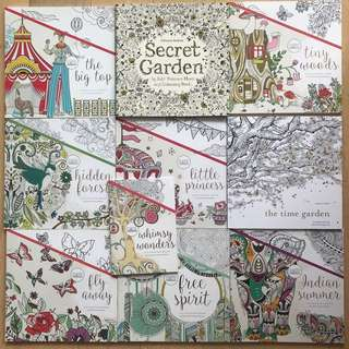 Mix of 10 New colouring books Free shipping