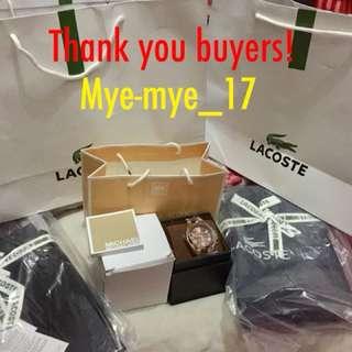 Thank you Buyers