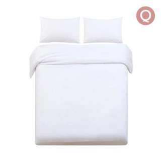 Queen 3-piece Quilt Set White SKU: QCS-MF-WH-Q