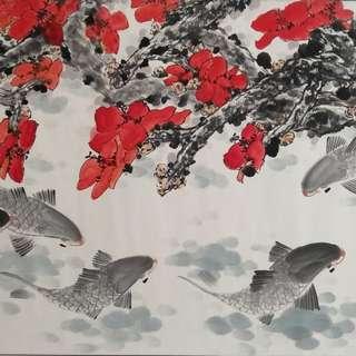Chinese art painting 名家山水画 花鸟画 中国画