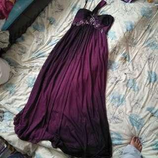 Selling my pre loved purple long gown.