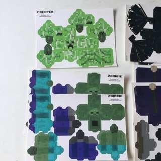 Minecraft Paper Craft