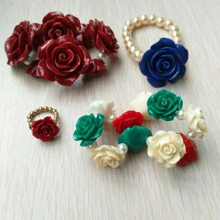 Rose Bracelet and Ring