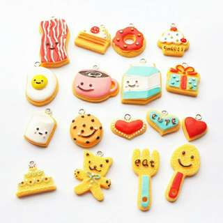 Food Charms 30 psc Kawaii Cute