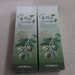 FOODAHOLIC Olive Cleansing Foam 180ml