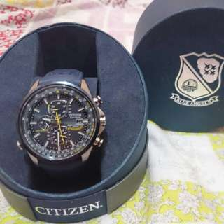 Citizen eco drive world chronograph blue angels AT-8020