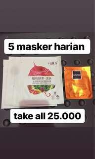 daily mask softaqua mousterizing / melembabkan 100% original