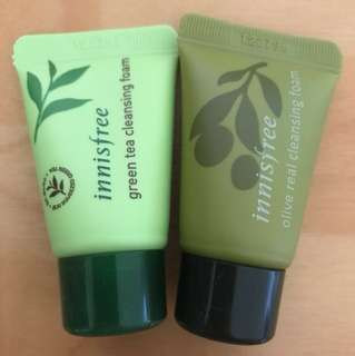 Innisfree Travel Kit - green tea / olive